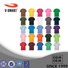 AT005 Wholesale 120g 140g 160g 100% Cotton Plain T-shirts Men In Bulk Custom Printing or Embroidery Available