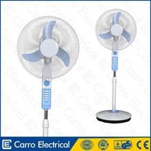 Led dc solar ventilateur 12v fan 16inch with dc motor 15w standing fan