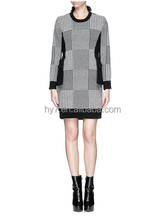 Europe and the United States women's latest fashion Wool Knitted dress