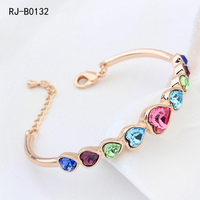 Costume Jewelry France Hot Selling Crystal Gemstone Jewelry Charm Bracelet For Women