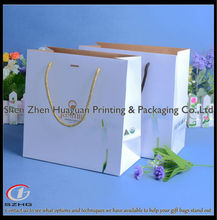 Factory Customized Luxury Matt Laminated Carriers Recycled Rope Handled Paper Bag