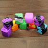Assorted colors silicone wax container silicone bho container square silicone storage jar for oil concentrate wax vaporizer