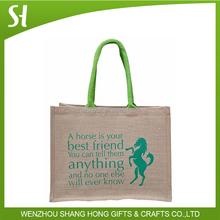 jute bag plain shopping jute ash bag custom jute bags, rope handle
