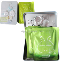 cartoon embossing holding make up packaging tins with hinge