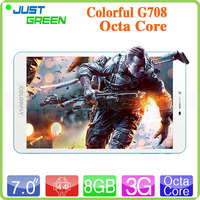 Android Phone Tablet Colorfly G708 Octa Core 7 inch Tablet PC 1GB 8GB Android 4.4 White 3G Version