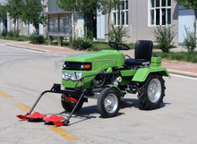 hot sale Chinese farm tractor 12hp with trailer mower snow blade
