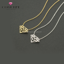 Cheap Price Special Stainless Steel Mini Diamond Shape Pendant Necklace for Girl Friend