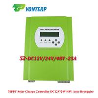 25A 48V LCD MPPT Solar battery charger controller charge Vented, Gel, NiCd, Sealed Lead Acid battery Etc MPPT PV Regulator