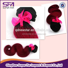 20 inch virgin hair remy hair two ton body wave hair weft, double weft