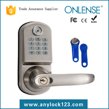 2015 latest card key home lock with code combination from factory price
