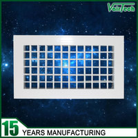 wall & ceiling aluminum adjustable double deflection air supply grilles