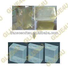 2013 PET transparent box hot melt glue transparent