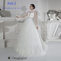 FF168 Charming A-Line High Neck Long Sleeve 2015 Lace Wedding Dress