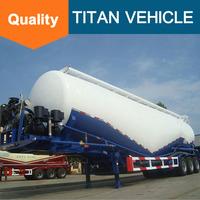 Tri-alxe v type silo bulk cement tank semi trailer, dry bulk cement tanker truck trailer for sale
