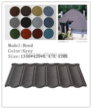 High quality colorful stone coated metal roofing