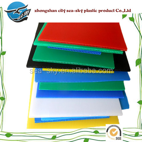 High Quality PP Hollow Sheet/ pp corrugated plastic/fluted corrugated plastic sheet