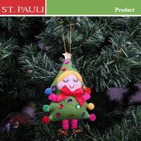 sale 5 inch handmade xmas tree hanging animated felt fabric christmas angel