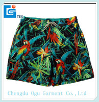 stylish quality 100% microfiber polyester mens beach & running shorts for men