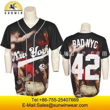 High quality custom baseball jersey Fashionable Comfortable All Over Sublimation Best Design Baseball Jersey