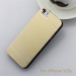 Metal Aluminium Back Case For iPhone 5S 5 Brushed Case For iPhone 5S 5 5G Ultra Slim Case For iPhone 5S 5