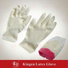 Dental de látex guantes de chatarra de cobre con diseño