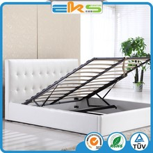 PU PVC LEATHER FABRIC HOME BEDROOM SETS FURNITURE SPACE SAVING GAS LIFT SOFT STORAGE BEDS