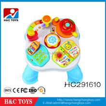 Multifunctional kids learning table plastic kids study table,baby educational toys HC291610