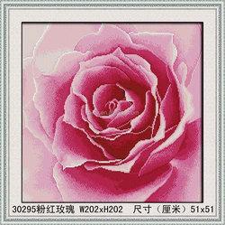 MODERN ROMANTIC PINK ROSE CRYSTAL DIAMOND PAINTING , DIAMOND PICTURE ON SALE