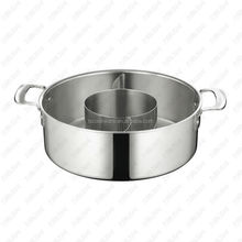 Stainless steel Tri-ply Three-flavor Hot Pot with Inner Pot