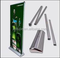 retractable wide screen pull up banner stand with printing in guangzhou