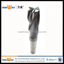 factory price 6 flute carbide end mill for steel