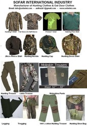 COUNTRY CLOTHING & HUNTING CLOTHES