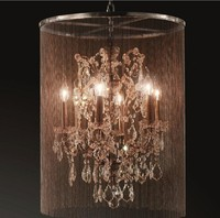 3 lights black modern Vaille Crystal chandelier