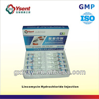 Reliable Pharmaceutical Antibiotics of Lincomycin Hydrochloride Injection