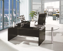 Fohan factory price modern office furniture table designs/excutive office table/tempered glass omputer desk PT-D009