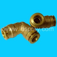 quick coupling slip lock brass elbow 90degrees connector