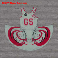 Plus size sexy girls custom netball dresses