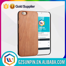 newest luxury hard bamboo blank real wood cellphone case for iphone 6