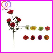 multi colored silk fabric plastic artificial poppy flower