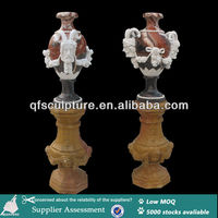 Colorfull Marble Carving Vase