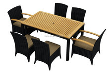 Dining Room Set Specific Use and Rattan / Wicke Material rattan dining set teak table top
