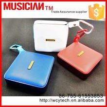 Built-in Mic 3.5 mm Audio Jack, support TF card and USB input splashproof bluetooth speaker