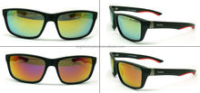 Great quality stylish sun glasses fashion with mirror lense for sun glasses eyewear with orange lens sunglasses