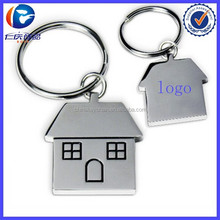 AAA Quality Metal House Shape Key Chain For Printed Loog