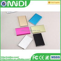 new design unique product to sell ultra thin portable USB Slim power bank with 5000mah real capacity for mobile phone