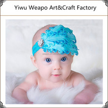Baby vintage Feather Pad prop headband flower hair band Accessorie Holiday party