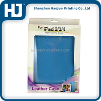 Leather Case for iPad Packaging box with window,Paper Box