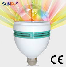3W Spinning LED Party Bulb Home Color Rotation Energy Saving Bulb Light