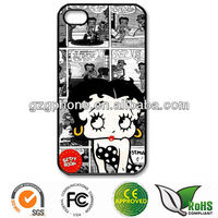 PC hard cute cover for iphone 5 with metal sheet