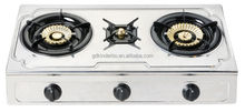New model 3 burners stainless steel table top gas stove